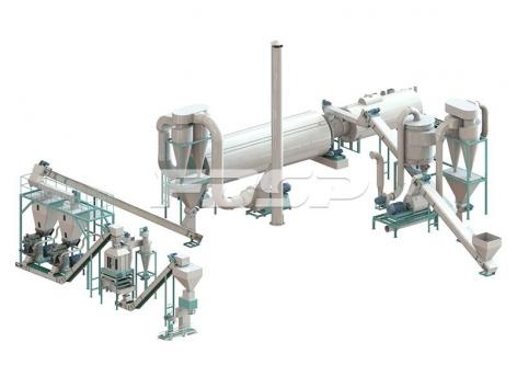 Линия производства гранулирования сельскохозяйственных отходов по 4-6 т/ч