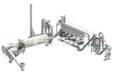 Линия производства гранулирования пальмовых отходов 4-6 т/ч