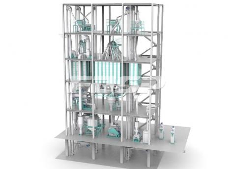 линия производства корма для поросенка SZLH420 (6-8 тонн в час)