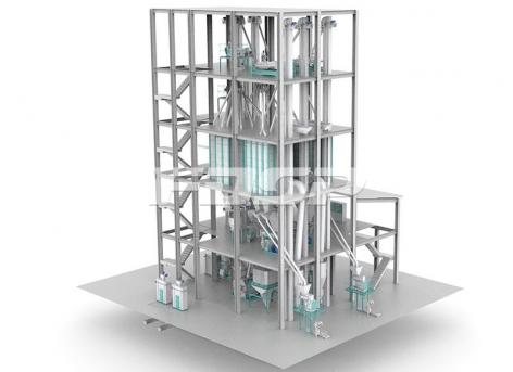 Двухпроводная линия производства корма для жвачных животных SZLH420 (20 т/ч)
