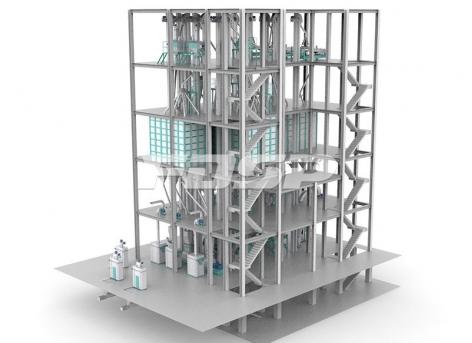 трёхпроводная линия производства кормов для скота и овец SZLH678 (50-60 т/ч)