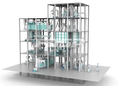 Двухпоточная линия по производству экструдированных кормов для водных растений производительностью 6-12 т / ча
