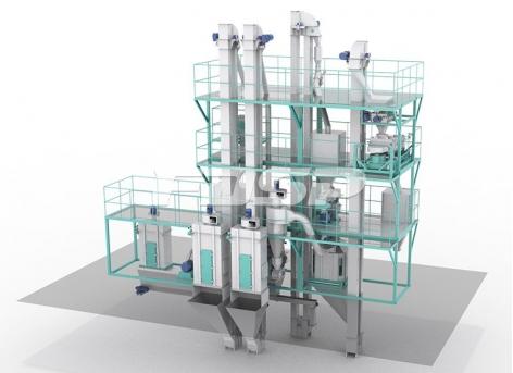 Небольшая механическая комбинация для производства корма SKJZ5800