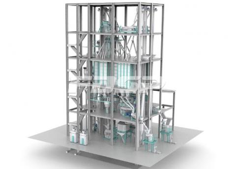 Двойная линия производства корма для водного хозяйства SZLH420 (15 т/ч)