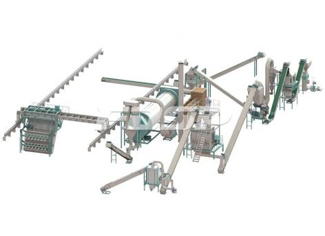 Линия производства гранулирования овечьего навоза 1,5-2,5 т/ч.