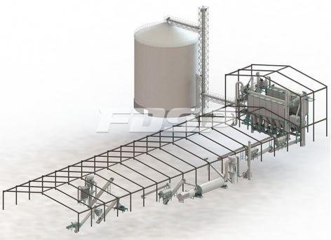 Линии производства гранулирования остатков по 10 т/ч