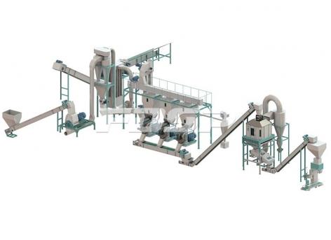 Линии производства гранулирования  остатков по 2,5-3,5 т/ч