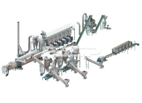 Линии производства гранулирования  сырых древесных по 5-7 т/ч