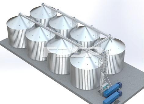 складское хранилище кукурузы 8-4000 т
