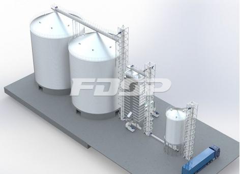 хранение зерна 2-4000 т на зарубежной ферме