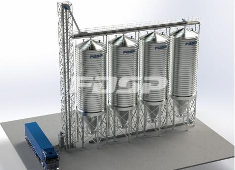 Проект стального силоса соевого шрота 4-200 тонн