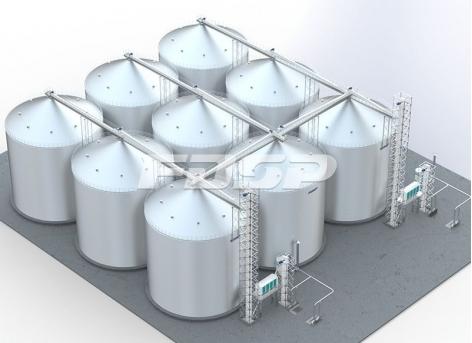 складское хранилище кукурузы весом 9-6000 т