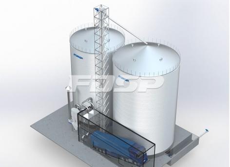 складское хранилище кукурузы 1-2000 т и 1-3000 т
