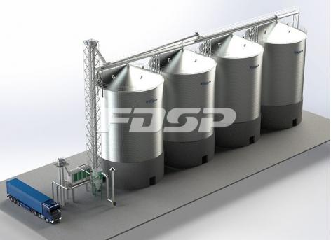 складское хранилище сои 4-2000 т