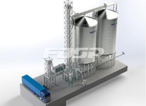 складское хранилище пшеницы объемом 2-1000 т