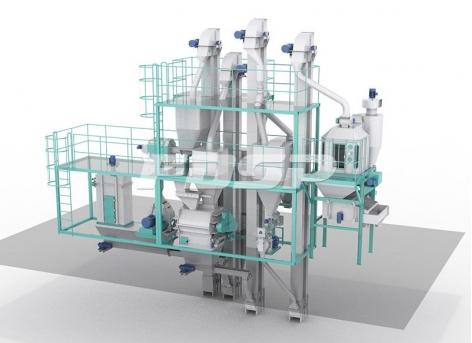 Небольшая механическая комбинация для производства корма SKJZ3000
