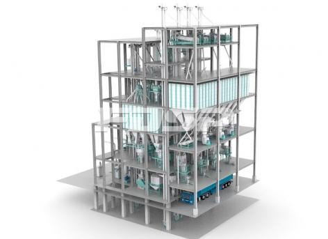 Четырехпроводная линия производства корма для скота и птицы SZLH420 (40 т/ ч)