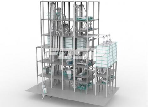 Трёхпроводная линия производства кормов для скота и птицы SZLH508 (45 т/ч)