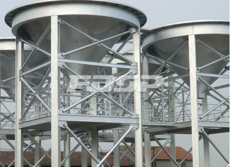 силос стального конуса для складского проекта